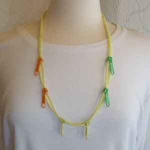 Funky 80's Zipper Necklace